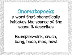 Joy Cowley Onomatopoeia Packet Download
