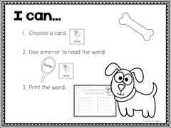 Mirror Vocabulary Activity Packet