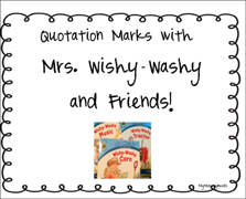 Mrs. Wishy-Washy Quotation Marks Activity