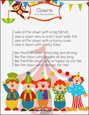 Clown Song Printable Graphic Download