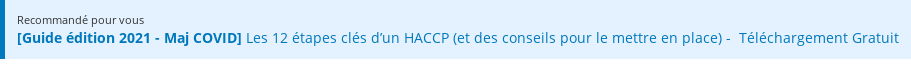 Recommandé pour vous  [Guide édition 2020 - Maj COVID] Les 12 étapes clés d'un HACCP (et des  conseils pour le mettre en place) - Téléchargement Gratuit