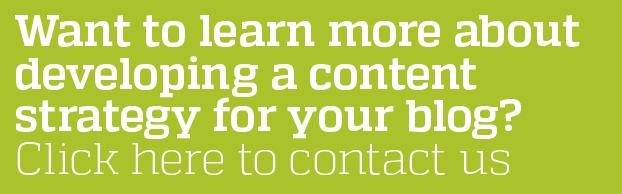 Want to learn more about developing a content strategy for your blog? Click here to contact us