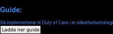 Guide:  Så implementerar ni Duty of Care i er säkerhetsstrategi Ladda ner guide
