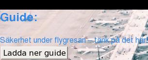 Guide:  Säkerhet under flygresan – tänk på det här! Ladda ner guide