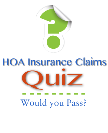 hoa insurance claims quiz