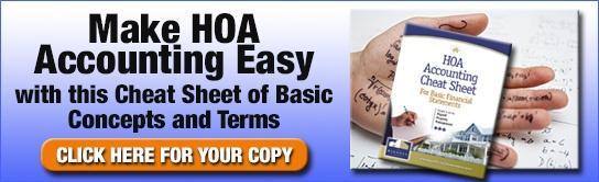 Make HOA Accounting Easy - Cheat Sheet