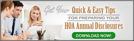 HOA Annual Disclosures