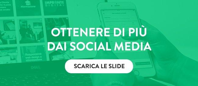 Scarica le slide sui Social Media