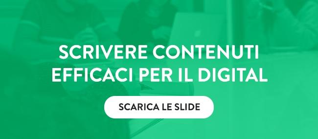 Scarica le slide sul Web Copywriting