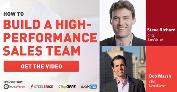 high-performance sales team
