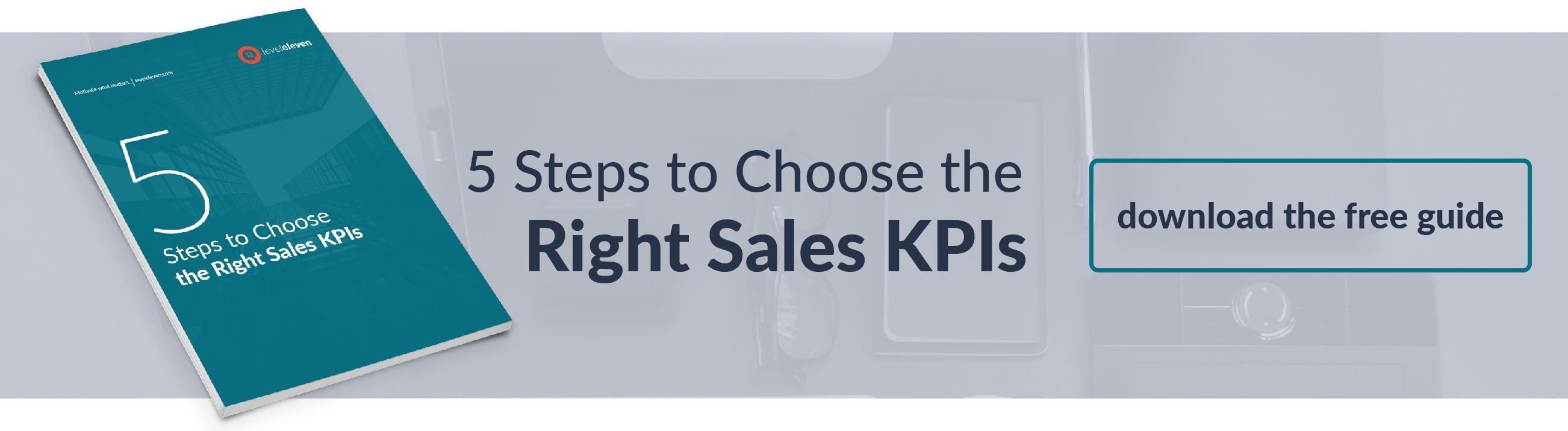 steps to choose sales KPIs
