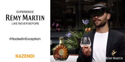 "Remy Martin introduces the ""Rooted in Exception"" HoloLens brand experience developed by Kazendi"