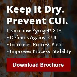 Keep It Dry, Prevent CUI. Download Aspen Aerogel's Corrosion Under Insulation Brochure.