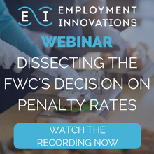 Watch our recording webinar on dissecting the FWC's decision on penalty rates