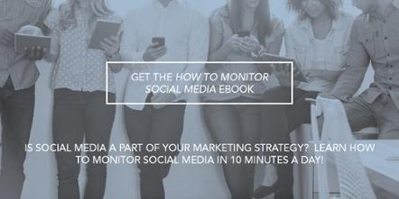 how to monitor social media