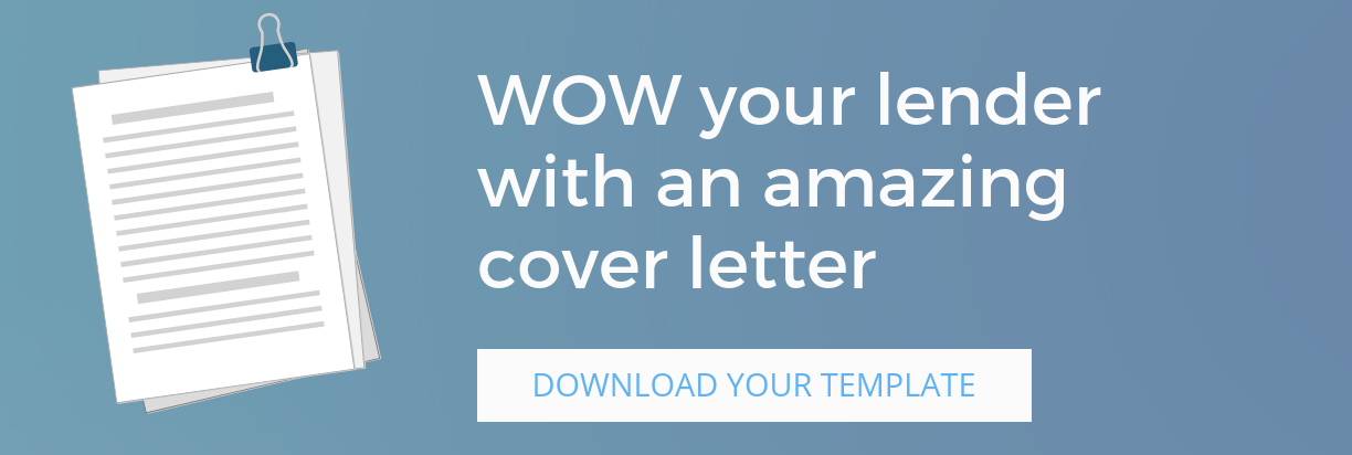 WOW your lender with an amazing loan application cover letter... download this template!