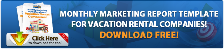 monthly marketing report template vacation rental companies