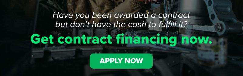 Have you been awarded a contract but don't have the cash to fulfill it? Get Contract financing now.