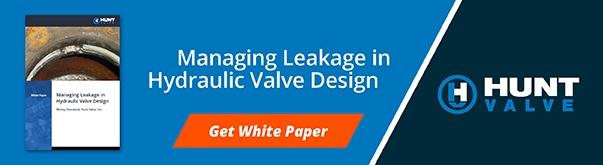 How to Manage Leakage in Hydraulic Valve Design