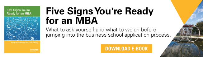 Which of these traits is more favorable for getting into business school?