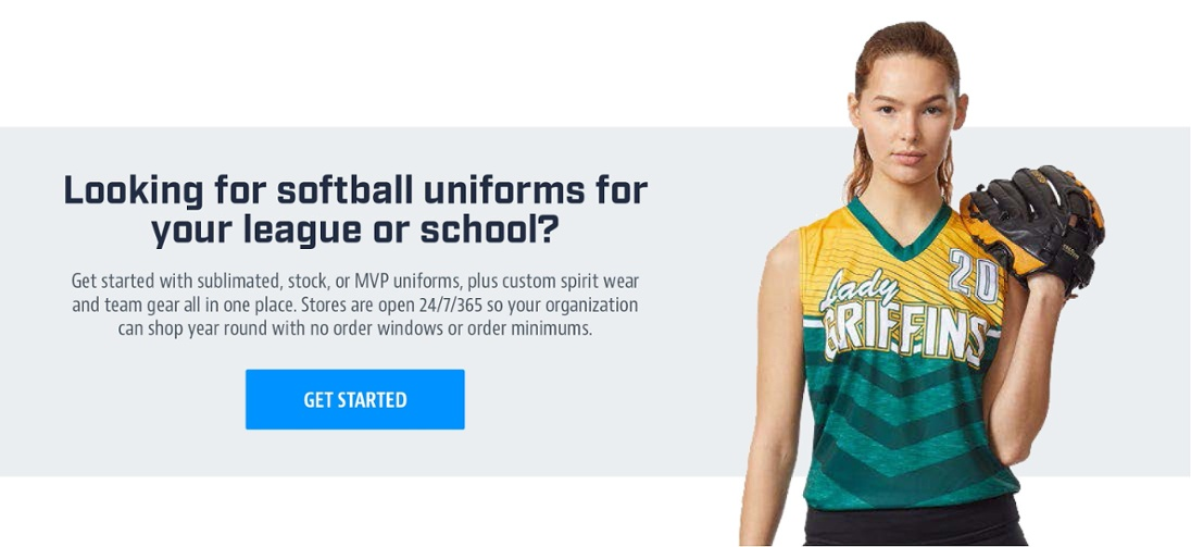 Looking for softball uniforms for your league or school?