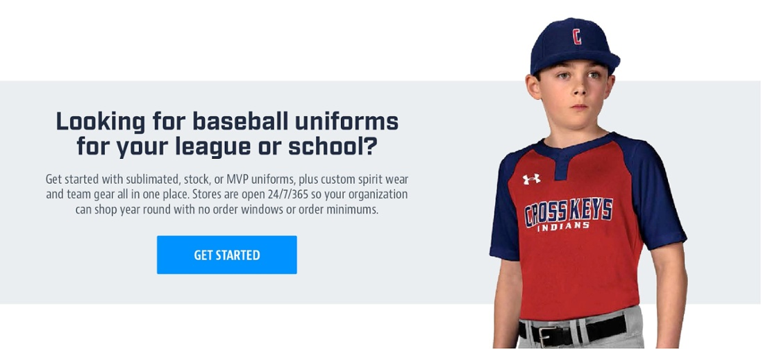Looking for baseball uniforms for your league or school?