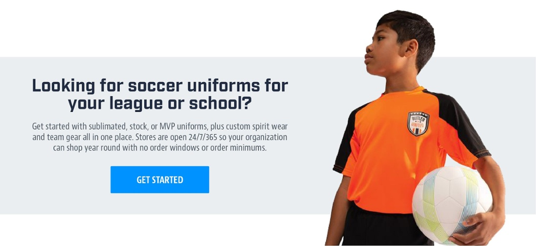 Looking for soccer uniforms for your league or school?