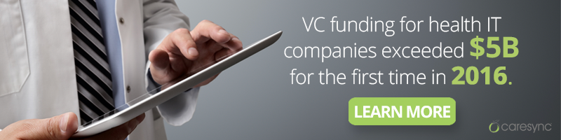VC funding for health IT companies exceeded $5B for the first time in 2016. Read more about this.
