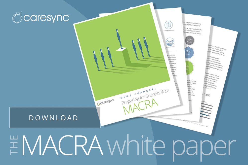 For more information about Medicare Chronic Care Management, care coordination, MACRA, MIPS, and other CMS requirements that impact reimbursement and healthcare, download this free MACRA white paper by CareSync.