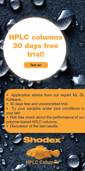SHODEX Europe 30 days free trial