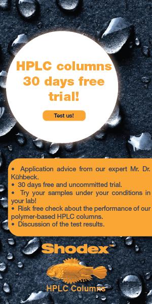 SHODEX Europe 30 days free trial