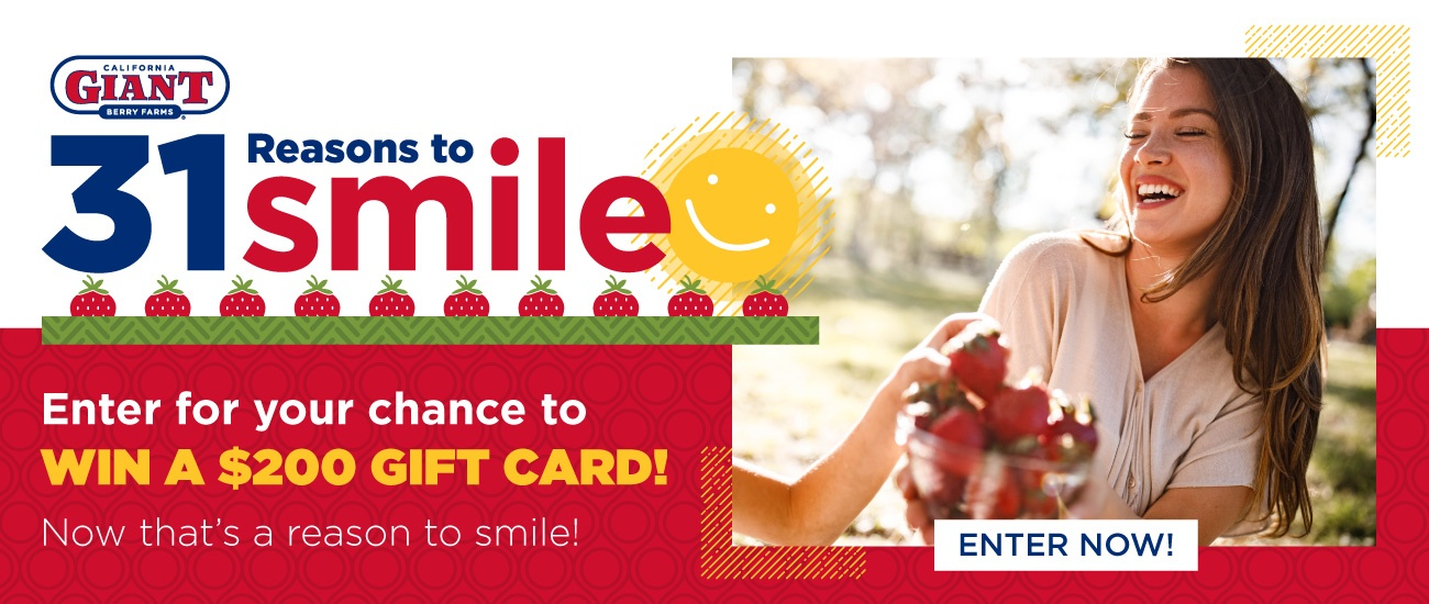 31 Reasons to Smile | Enter for your chance to win a $200 gift card!