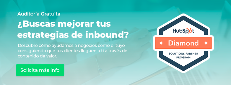 Solicita tu asesoría gratuita de inbound marketing
