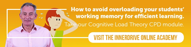 InnerDrive Online Academy for teachers Cognitive Load Theory CPD module