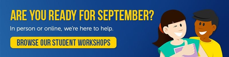 Student workshops for September, in person or online
