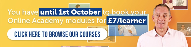 You have until 1st October to book your InnerDrive Online Academy modules for £7 per learner