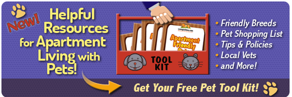 New Resources for Apartment Living with Pets- Pet Tool Kit