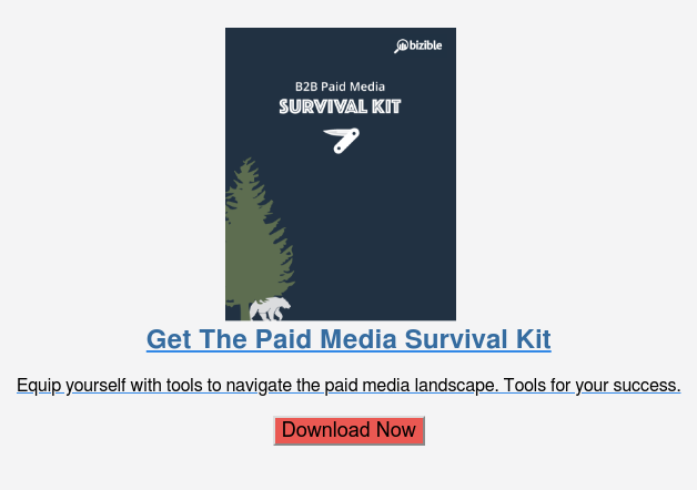 Get The Paid Media Survival Kit  Equip yourself with tools to navigate the paid media landscape. Tools for your  success.  Download Now