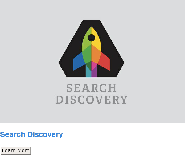 Search Discovery Learn More