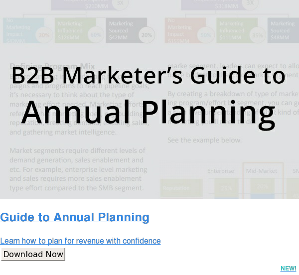 Guide to Annual Planning  Learn how to plan for revenue with confidence Download Now NEW!