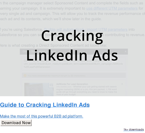 Guide to Cracking LinkedIn Ads  Make the most of this powerful B2B ad platform. Download Now 722 downloads
