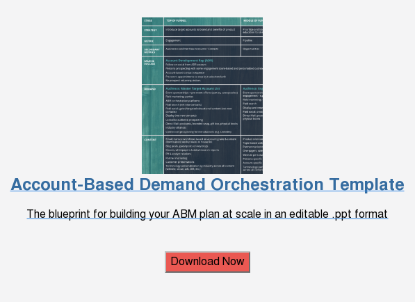 Account-Based Demand Orchestration Template  The blueprint for building your ABM plan at scale in an editable .ppt format    Download Now