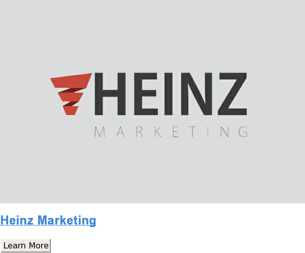Heinz Marketing Learn More