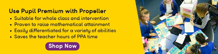 Propeller and Pupil Premium Call to Action with copy