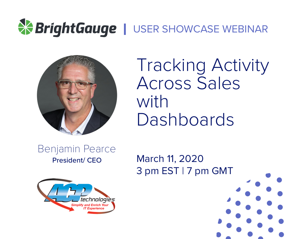 brightgauge user showcase webinar featuring acp technologies about playlists to track team activity