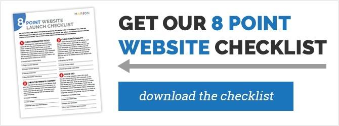 download 8 point website checklist