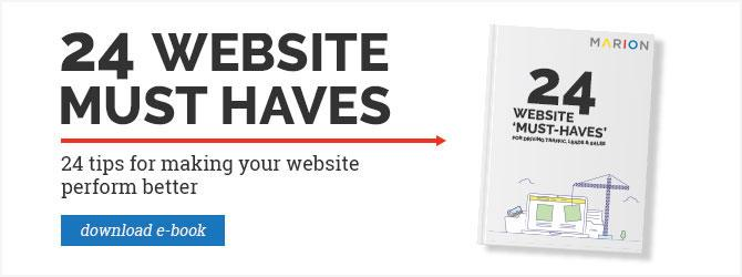 24 Website Must Haves - ebook download