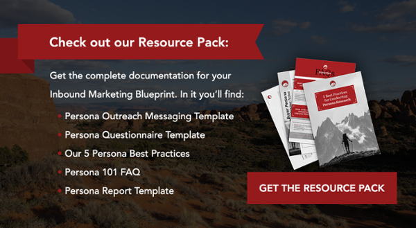 Contents of the Buyer Persona Resource Pack