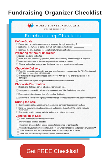 Fundraising Organizer Checklist