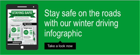Stay safe on the roads with our winter driving infographic